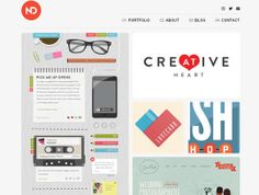 clean website showcase