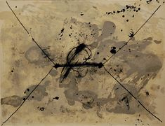 'L'Enveloppe' Antoni Tàpies, 1968. Catalonia. Sober and sparing use of colour, usually no more than two or three in a single work  with a preference for neutral hues such as white, black and grey.