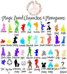 Magic Band ORIGINAL Disney Inspired Characters Magic - Magic band vinyl decals