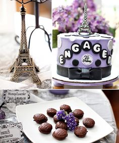 """""""Springtime in Paris"""" Engagement Party- Who says a chic Paris-inspired party has to come with runway-style price tags?"""