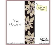 Pattern for Loom Flax Flowers INSTANT by VikisBeadingPatterns, $6.50