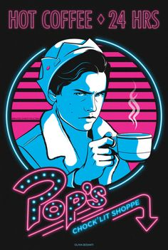 Riverdale's Jughead drank more coffee than ate burgers - so had to make him the new poster boy for Pop's coffee   ☕️  ☕️  ☕️