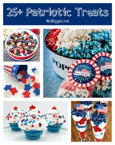 25+ Patriotic Treats via NoBiggie.net. #celebrate #IndependenceDay