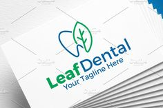 Leaf dental | Logo Template by REDVY on @creativemarket
