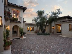 Look at the tile work on that courtyard!