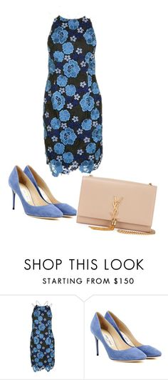 """""""Untitled #2248"""" by ania18018970 ❤ liked on Polyvore featuring Topshop, Jimmy Choo and Yves Saint Laurent"""