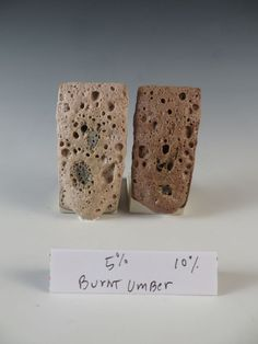 Here are some Crater Glaze Tests with stains. The recipe is Pinnell Strontium Matte at cone 6 firing 60 Nepheline Syenite 20 . Ceramic Decor, Ceramic Clay, Pottery Sculpture, Pottery Art, Ceramic Glaze Recipes, Pottery Workshop, Pottery Techniques, Formulas, Glazes For Pottery