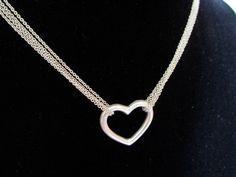 Sterling Silver Multi-Strand Heart Necklace, 8.3g #Collar