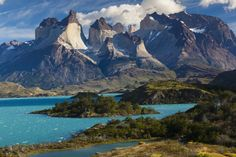Southern Patagonia: A land of vaqueros, mountains and huge swathes of scrubland, dotted with roaming guanacos and ñandú (ostriches), has two main towns: historic Punta Arenas, and the smaller Puerto Natales – gateway town to the spectacular Torres del Paine National Park. Natales is where hikers and climbers gather before and after their assault on the distinctive bell-shaped mountains, rock towers, glacial lakes and backcountry trails of Chile's most popular natural attraction.