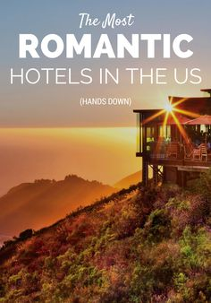 Seal the deal with a stay at one of the most romantic hotels in the U.—we're talking breathtaking views, incredible food and wine, and cuddle-worthy digs to get you in the mood. Romantic Destinations, Romantic Getaways, Romantic Travel, Amazing Destinations, Travel Destinations, Couples Vacation, Need A Vacation, Vacation Ideas, Most Romantic Places