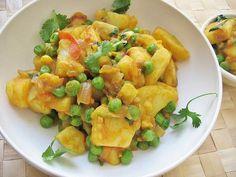 curry di piselli e patate