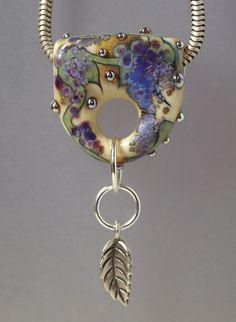 Wisteria - Lee Woodburn Handmade Lampwork Glass Beads - Focal Bead - SRA #HandmadeArtisan