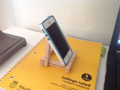 #DIY iPhone stand ...because I'm too cheap to buy one!