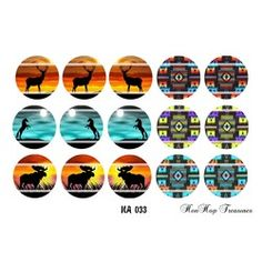 New Listing Started NA 033 Native American Inspired DIGTAL FILE Bottle Cap Images $1.25