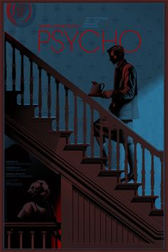 Psycho Movie Poster by Laurent Durieux