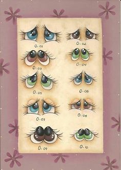 Examples of painted eyes....could definitely use for painting on rocks!