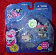 Littlest Pet shop Mouse halo & Cat devil ears 1411 #1412 LPS