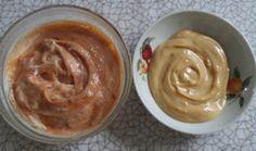 Cream-cheese de kefir e doce de leite e goiabada