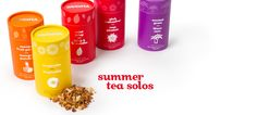 Summer Tea Solos - Colourful Gift Packs With Limited-Edition Summer Teas: Tropicalia, Mint Julep, Mango Fruit Punch, Pink Passionfruit And Coconut Grove | DavidsTea
