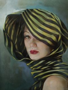 "Francesca Strino (contemporary Italian Artist, ""Francesca Strino's powerful paintings reflect the influence of her father, Maestro Gianni Strino"" Potrait Painting, Woman Painting, Portrait Art, Painting & Drawing, Portraits, Italian Painters, Italian Artist, Richard Burlet, Neo Rauch"