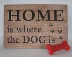 Dog lovers quote sign Dog quote decor Warning dog sign by GGSIGNS