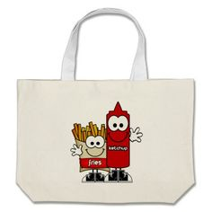 Fries and Ketchup Jumbo Tote Bag
