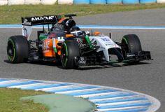 Sergio Perez (MEX) Sahara Force India F1 VJM07. Formula One Testing, Day One, Tuesday 28th January 2014. Jerez, Spain. Sahara Force India