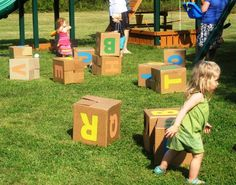 Fun and games with the alphabet blocks