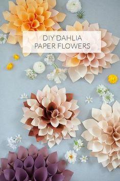 flores de papel de bricolaje