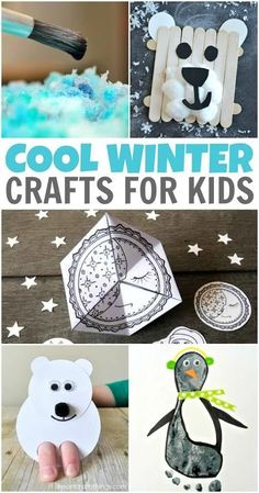 Looking for some cool winter crafts for kids to help them celebrate winter indoors where it's warm? We've rounded up some fun kids winter crafts that you won't want to miss!