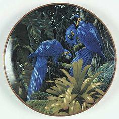 Lenox China Miracles of The Rainforest: Hyacinth Macaws - Artist: Richard Sloan
