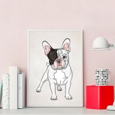 Planning up a dog-themed nursery? Here's something super cute to include in your decorations, our French Bulldog Cute Cartoon Wall Art. Cartoon Wall, Cute Cartoon, Nursery Themes, Themed Nursery, Art Mural, Wall Art, French Bulldog, Dog Lovers, Images