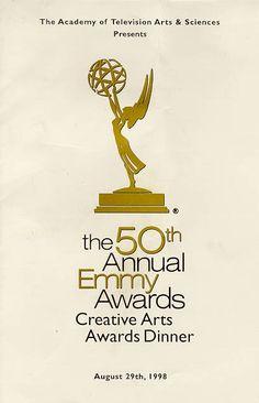 Emmy awards dinner menu, 1998.