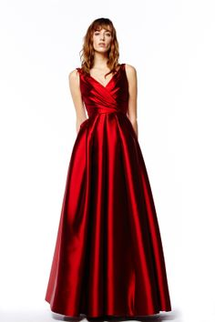 ReemAcra red evening gowns