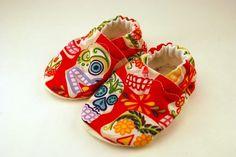 Sugar Skulls Cloth Baby Shoes #DiaMuertosATX
