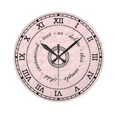 Antique Roman Numeral Light Pink Marble Effect Large Clock ❤ liked on Polyvore featuring home, home decor, clocks, antique clock, word clock, antique home decor, marble home decor and antique wall clocks