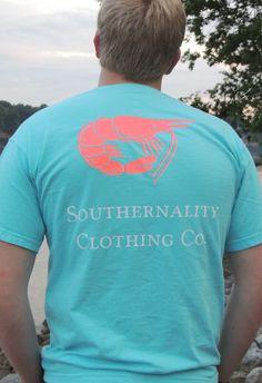 Southernality Clothing Co. Big Shrimp tee - Pool Blue