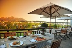 The terrior restaurant on the Kleine Zalze wine estate in Stellenbosch not only serves some of the best food in Cape Town but the scenery is stunning too The Lodge Restaurant, Cape Town South Africa, Table Mountain, Places To Visit, Patio, Outdoor Decor, Adventurer, Tanzania, Starters