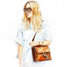 The Fashion Guitar w/Chloe bag. #KJaneStudio