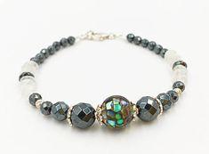 Moonstone Bracelet Abalone Jewelry Mosaic Bracelet Women