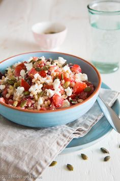 Pearl barley with tomato and feta - Simone's Kitchen