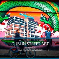 Dublin Street Art #LoveDublin #Art #Street #Urban #Colour #Wave #Bike #Dragon #Album #Photo