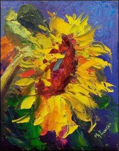 Beautiful sunflower art.
