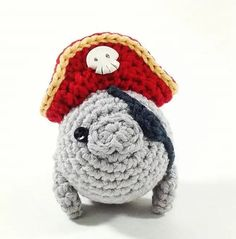 Pirate Manatee Handmade Amigurumi Toy by NeedleNoodles on Etsy. This is the most squeeee worthy thing I've EVER seen. Amigurumi Toys, Amigurumi Patterns, Crochet Patterns, Cute Crafts, Yarn Crafts, Crochet Animals, Crochet Toys, Easy Crochet, Crochet Projects