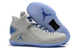 9b8fb229fc0e94 Nike Air Jordan 32 basketball shoes Grey blue Jordan Shoes For Sale