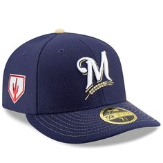 finest selection 90532 75e56 Men s Milwaukee Brewers New Era Navy 2019 Spring Training Low Profile  59FIFTY Fitted Hat,  39.99