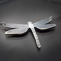 Etched Silver Dragonfly Necklace | Shop fashion, accessories,luxury| Kaboodle