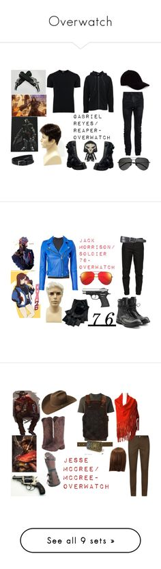 """Overwatch"" by daisypretty1738 ❤ liked on Polyvore featuring Le Amonie, Dolce&Gabbana, James Perse, 11 by Boris Bidjan Saberi, Sandro, Yves Saint Laurent, New Rock, Funko, men's fashion and menswear"