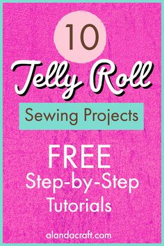 Free step-by-step Jelly Roll Sewing Projects. All from Alanda Craft. Easy sewing projects to make with jelly roll strips. Many suitable for beginners. Quilting For Beginners, Quilting Tips, Quilting Tutorials, Quilting Projects, Msqc Tutorials, Patchwork Quilting, Strip Quilt Patterns, Jelly Roll Quilt Patterns, Sewing Patterns