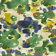 Blue & Green Dappled Watercolor Fabric 18in